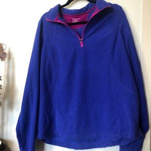 NWT Tek Gear purple quarter zip sweatshirt 2x